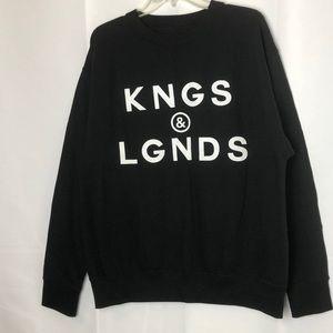 LUX Crew Sweatshirt KNGS & LGNDS Size L